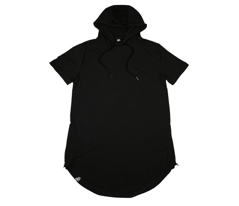 Scooped Tee With Assasin Hoodie - Black - LD West