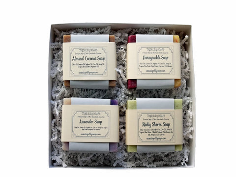Assorted Gift Set Of Handmade Soap-Unsex, Floral and Almost Good Enough To Eat