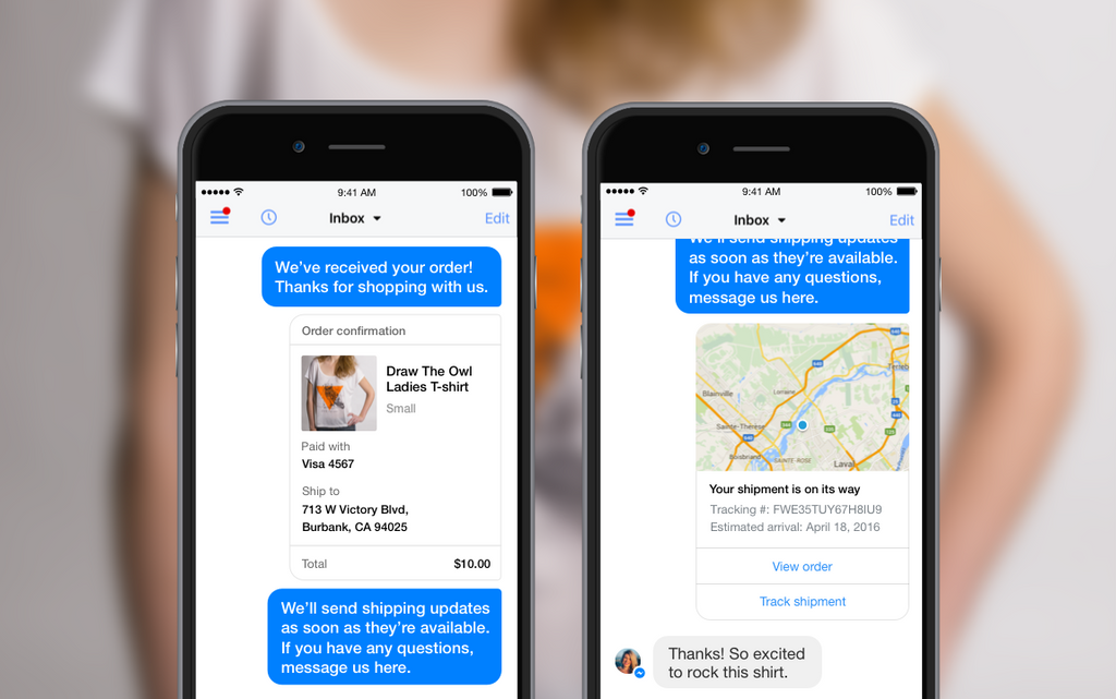 Have Your Order Updates Sent Automatically Via Facebook Messenger