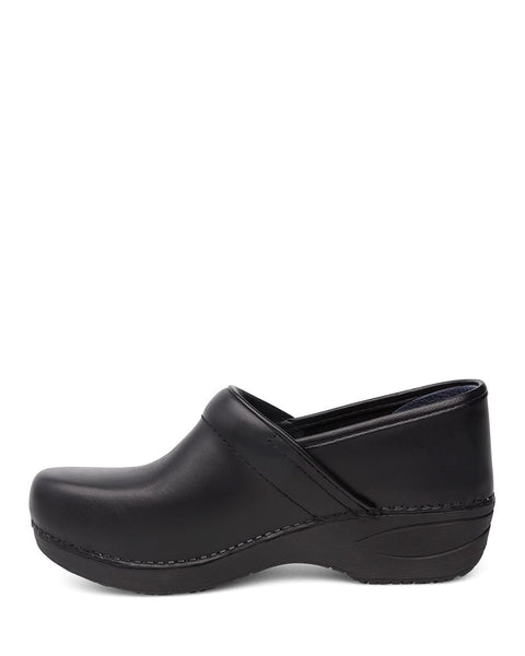 Dansko Women's Wide Width Pro XP 2.0 Clogs in Black Pull Up Leather - Company Store Uniforms