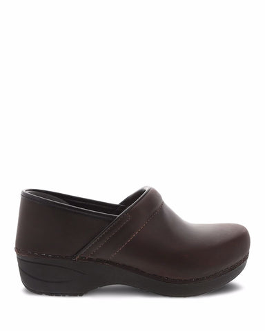Dansko Women's Pro XP 2.0 Clogs in Brown Waterproof Pull Up Leather - Company Store Uniforms