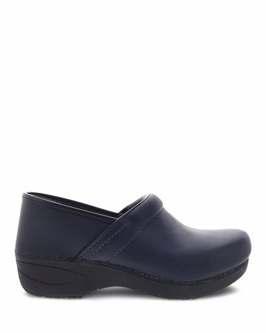 Dansko Women's Pro XP 2.0 Clogs in Navy Waterproof Pull Up Leather - Company Store Uniforms