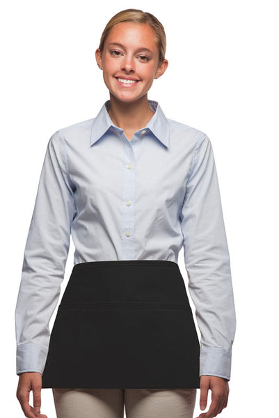 Daystar Standard Three Pocket Waist Apron in Black - Company Store Uniforms