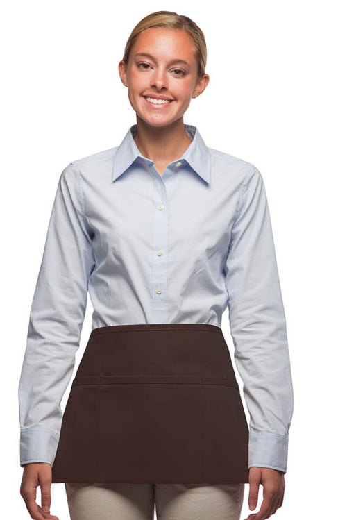 Daystar Standard Three Pocket Waist Apron in Brown - Company Store Uniforms