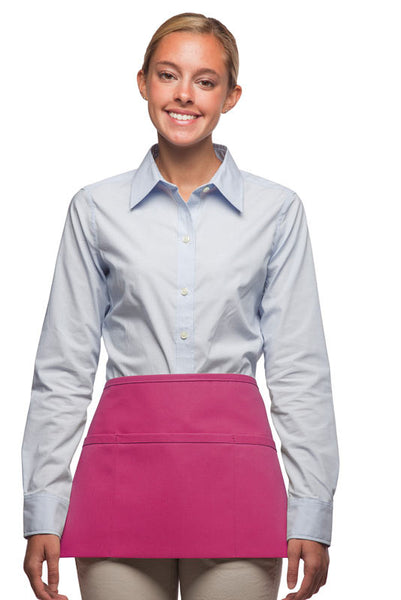 Daystar Standard Three Pocket Waist Apron in Hot Pink - Company Store Uniforms