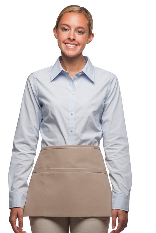 Daystar Standard Three Pocket Waist Apron in Khaki - Company Store Uniforms