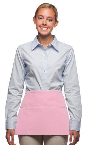 Daystar Standard Three Pocket Waist Apron in Pink - Company Store Uniforms