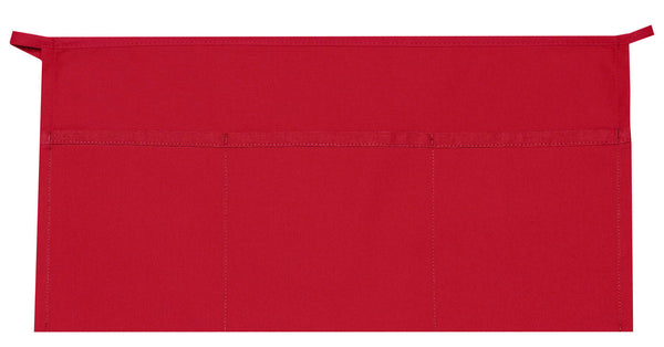 Daystar Standard Three Pocket Waist Apron in Red - Company Store Uniforms