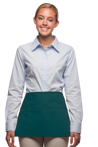Daystar Standard Three Pocket Waist Apron in Teal - Company Store Uniforms