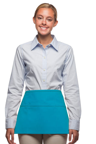 Daystar Standard Three Pocket Waist Apron in Turquoise - Company Store Uniforms