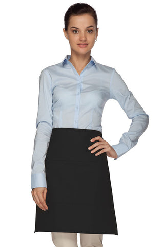 Daystar Half-Bistro Apron with Center Divided Pocket - Company Store Uniforms