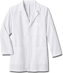 "White Swan Men's 34"" Mid-Length Labcoat - Company Store Uniforms"