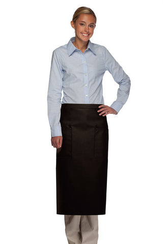 Daystar Two Patch Pocket Full Bistro Apron - Company Store Uniforms