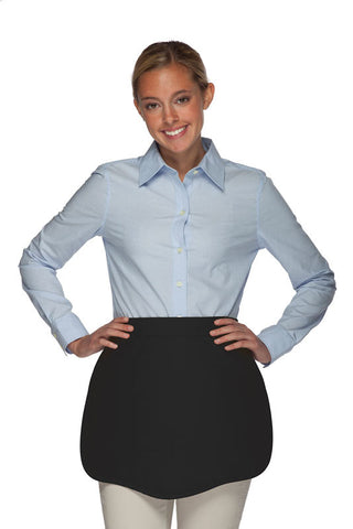 Daystar Scalloped Two Pocket Waist Apron - Company Store Uniforms