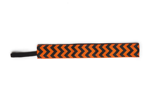 Banded Black and Orange Chevron Headband - Company Store Uniforms