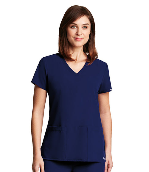 Greys Anatomy Signature By Barco 3 Pocket V-Neck Scrub Top - Company Store Uniforms