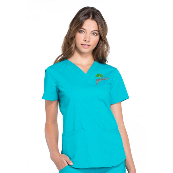Cherokee Workwear Professionals V-Neck Top (Style WW665)