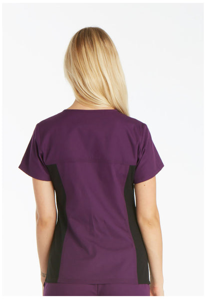 Cherokee Flexibles V-Neck Knit Panel Top (Style 2874)
