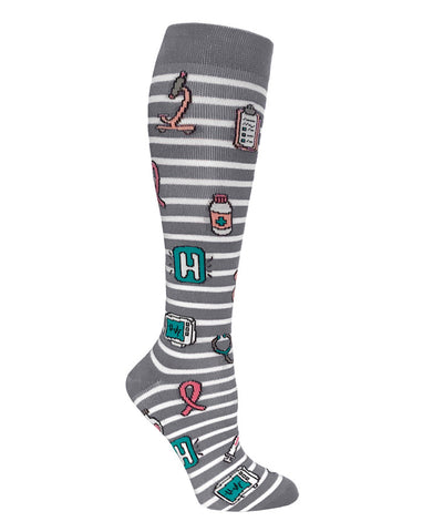 "Prestige Medical 12"" Premium Compression Socks (Assorted Prints) - Company Store Uniforms"