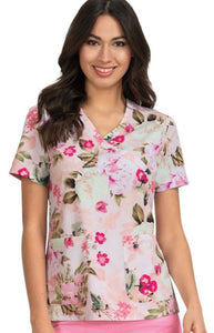 Koi Kristen Pretty Woman Print Top