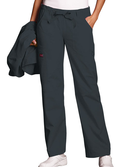 Cherokee Workwear Pewter Low Rise Drawstring Cargo Pant - Company Store Uniforms
