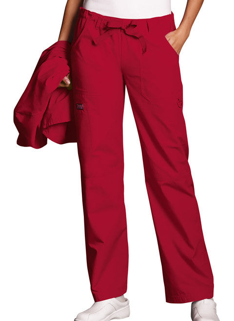 Cherokee Workwear Red Low Rise Drawstring Cargo Scrub Pant - Company Store Uniforms