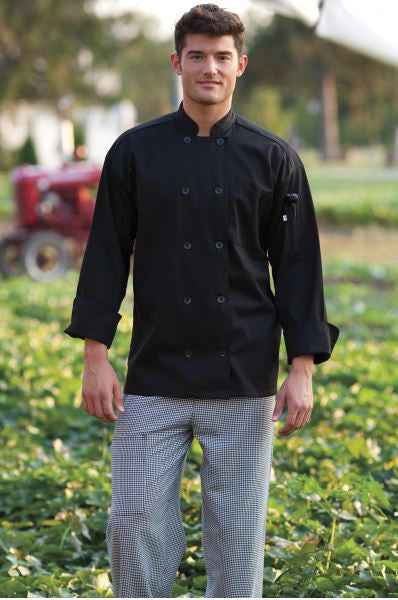 Uncommon Threads Classic Chef Coat In Black - Company Store Uniforms