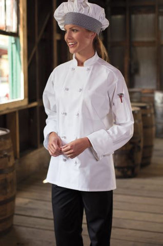 Uncommon Threads Classic Knot Chef Coat In White - Company Store Uniforms