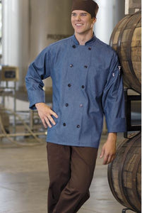Uncommon Threads Chambray Chef Coat - Company Store Uniforms