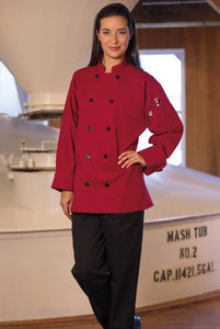 Uncommon Threads Moroccan Chef Coat In Red - Company Store Uniforms