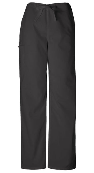 Cherokee Authentic Workwear Unisex Drawstring Cargo Pant in Black - Company Store Uniforms