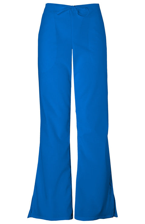 Cherokee Authentic Workwear Natural Rise Flare Leg Drawstring Pant in Royal - Company Store Uniforms