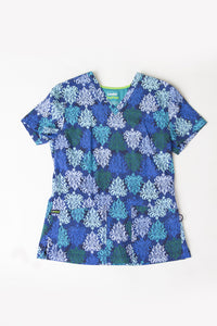 Landau Opulent Blues Print Top