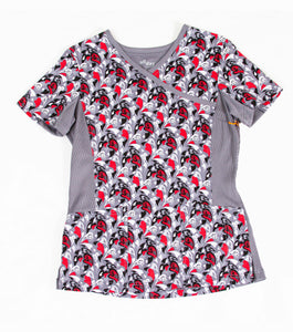 Landau Queen of Hearts Print Top