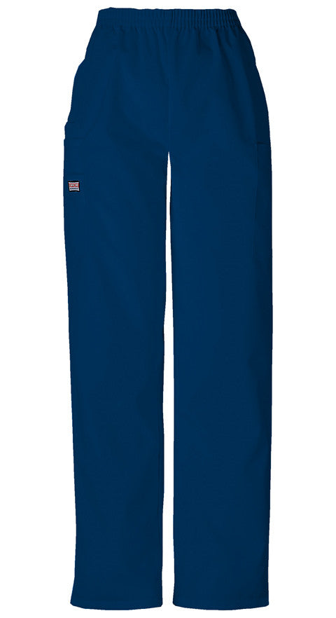 Cherokee Authentic Workwear Natural Rise Tapered Pull-On Cargo Pant in Navy - Company Store Uniforms