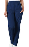 Cherokee Workwear Navy Natural Rise Tapered Pull-On Cargo Scrub Pant - Company Store Uniforms