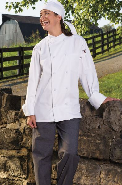 Uncommon Threads Soho Chef Coat In White - Company Store Uniforms