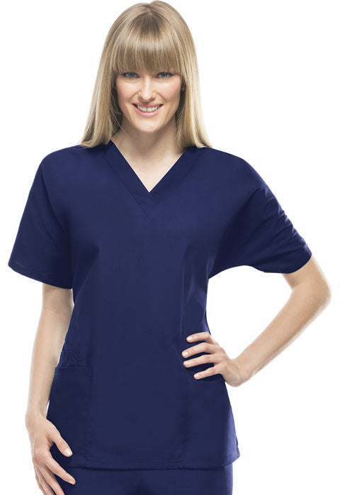 Cherokee Workwear V-Neck Top in Navy - Company Store Uniforms