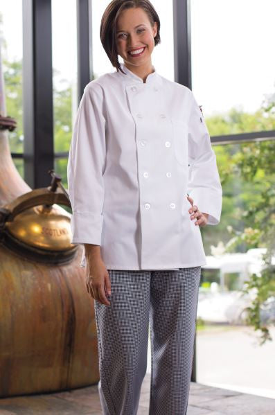 Uncommon Threads Napa Chef Coat - For Women - Company Store Uniforms
