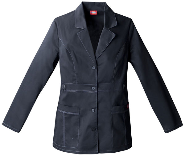 "Dickies 28"" Lab Coat in Black - Company Store Uniforms"