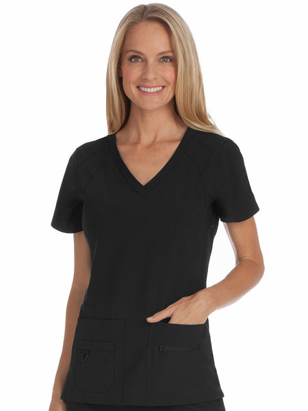 Med Couture Activate V-Neck Top
