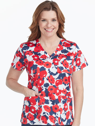 Med Couture Poppy Love Print Top