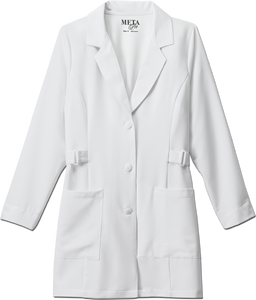 "White Swan Ladies 32"" Buckle Tri-Blend Stretch Labcoat - Company Store Uniforms"