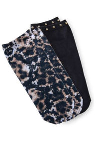 Koi Leopard Python Socks (Two-Pack)