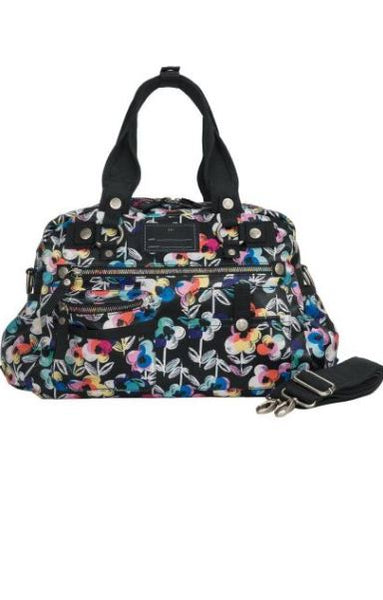 Koi Covered In Flowers Printed Utility Bag