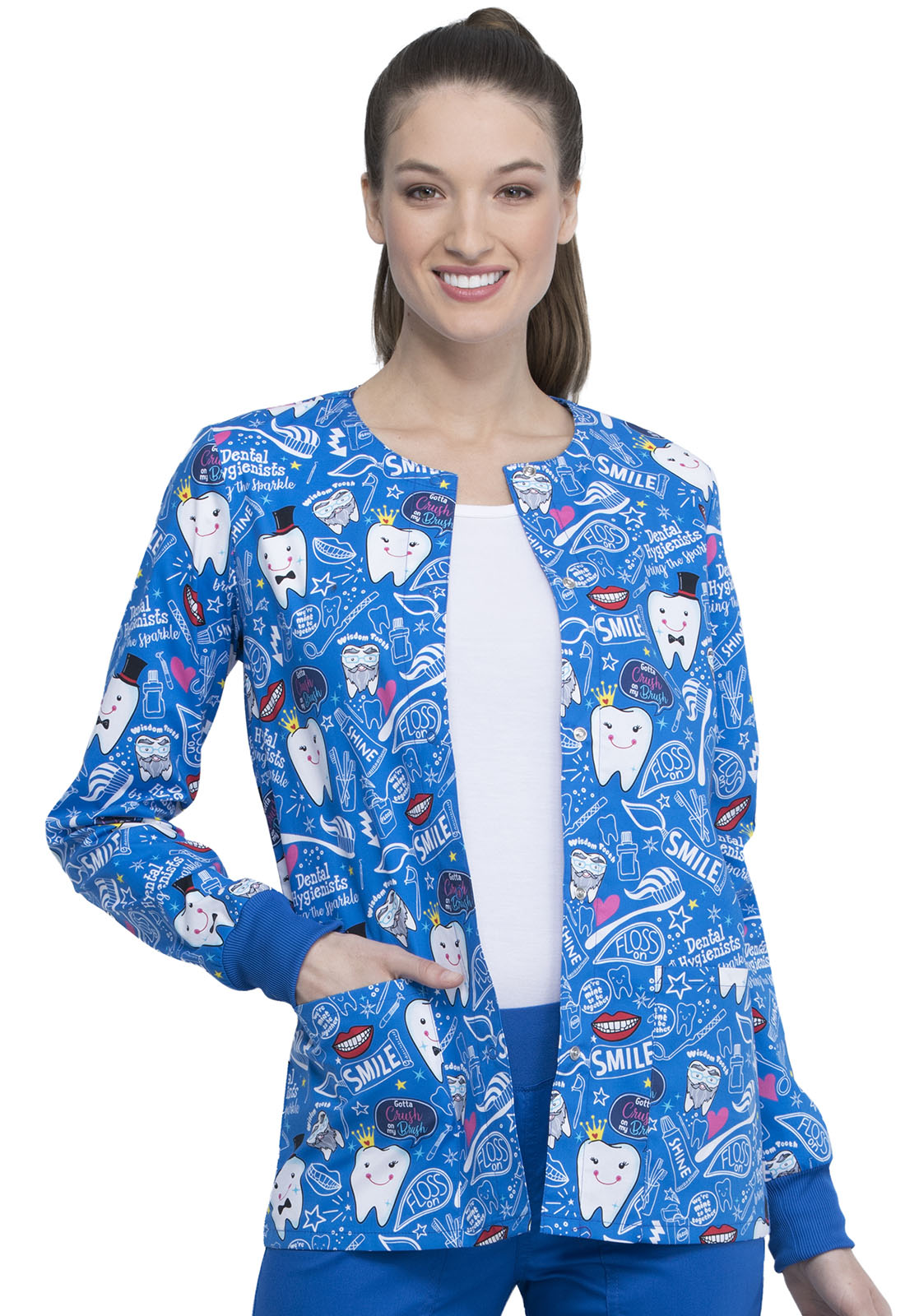 Cherokee Bring The Sparkle Print Jacket - Company Store Uniforms
