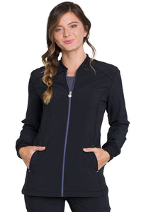 Infinity Zip Front Warm-up in Black