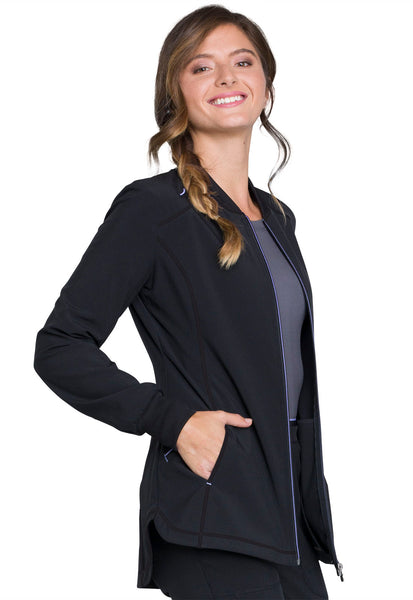 Infinity Zip Front Warm-up in Black - Company Store Uniforms