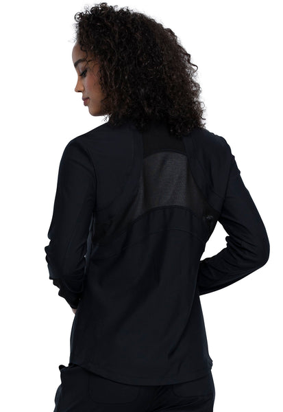Cherokee FORM Zip Front Jacket in Black - Company Store Uniforms