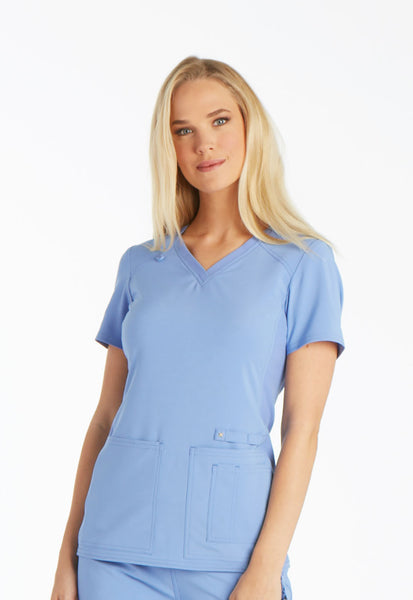 Cherokee iFlex V-Neck Knit Panel Scrub Top - Company Store Uniforms